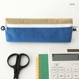 Blue - Indigo Mungunyang triangle zipper pencil case pouch