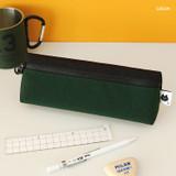 Green - Indigo Mungunyang triangle zipper pencil case pouch