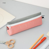 Pink - Indigo Mungunyang triangle zipper pencil case pouch