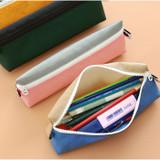 Usage example - Indigo Mungunyang triangle zipper pencil case pouch