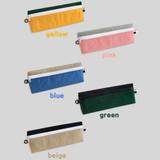 Color - Indigo Mungunyang triangle zipper pencil case pouch