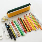 Stores up to 40 pencils - Indigo Mungunyang triangle zipper pencil case pouch