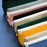 Detail of Indigo Mungunyang triangle zipper pencil case pouch