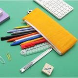 Indigo Mungunyang flat zipper pencil case