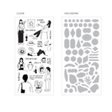 Paper stickers - ICONIC Collage sticker pack of 8 sheets
