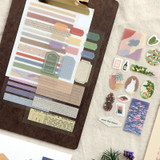 Usage example - ICONIC Collage sticker pack of 8 sheets