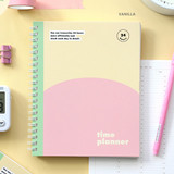 Vanilla - Indigo 6 month dateless weekly time management planner