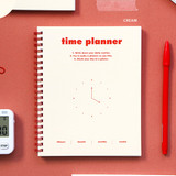 Cream - Indigo 6 month dateless weekly time management planner