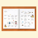 Weekly - Indigo 6 month dateless weekly time management planner