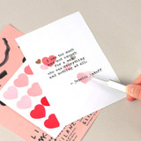 Example of usage - Heart large clear sticker set of 3 sheets