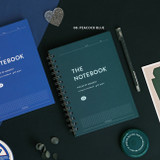 08 peacock blue - ICONIC Compact A5 wire bound grid notebook
