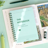 04 Soft Mint - ICONIC Compact A5 wire bound grid notebook