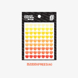 Freesia - Heart small clear sticker set of 3 sheets