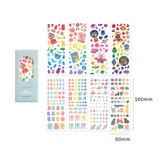 Set of 8 sheets - ICONIC Sunny glitter removable sticker seal pack