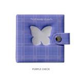 Purple check - Instax mini 3 ring slip in pocket photo album