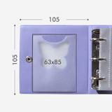Size of Instax mini 3 ring slip in pocket photo album