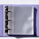Detail of Instax mini 3 ring slip in pocket photo album