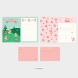 05. Peach - Second Mansion Jucy and Paul letter and envelope set