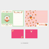 02. Strawberry - Second Mansion Jucy and Paul letter and envelope set