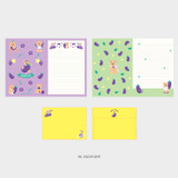 06. Eggplant - Second Mansion Jucy and Paul letter and envelope set