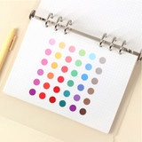 Round clear 8mm sticker set of 3 sheets