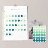 Round clear 13mm sticker set of 3 sheets