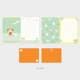 03 Coco - Second Mansion Enfant friends letter and envelope set