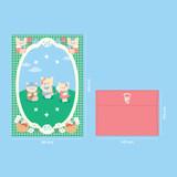 Size - Second Mansion Enfant friends letter and envelope set
