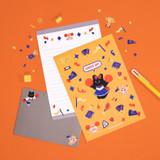 Usage example - Second Mansion Enfant friends letter and envelope set