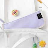 Violet - 2NUL Pencil keeper flat zipper cotton pen case