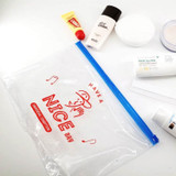 Usage example - Universal Condition Have a Nice day clear zip lock pouch