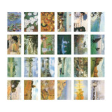 Composition of Monet label and mini sticker set