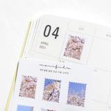 Usage example - Meri Film Spring flowers post stamp sticker sheets set