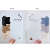 N.IVY Hands up Cozy Bear translucent document file holder