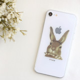 Usage example - Rabbit self-cut paper and clear sticker set