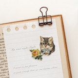 Usage example - Cat self-cut paper and clear sticker set
