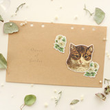 Usage example - Animal self-cut paper and clear sticker set