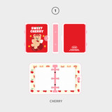 01 cherry - Second Mansion Jucy and Paul 3 ring grid notebook