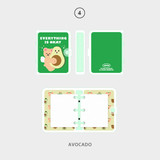 04 Avocado - Second Mansion Jucy and Paul 3 ring grid notebook