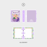 02 blueberry - Second Mansion Jucy and Paul 3 ring grid notebook