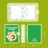 Size - Second Mansion Jucy and Paul 3 ring grid notebook