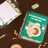 Second Mansion Jucy and Paul 3 ring grid notebook