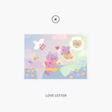 04 love letter - Second Mansion Enfants Holographic Postcard