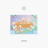 01 garden - Second Mansion Enfants Holographic Postcard