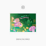 Deep in the forest - Second Mansion Enfants Holographic Postcard