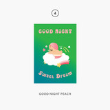 04 goodnight peach - Second Mansion Jucy and Paul Holographic Postcard