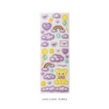 Love cloud purple - After The Rain Cyber Love Glitter Sticker Seal
