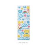 Love cloud blue - After The Rain Cyber Love Glitter Sticker Seal