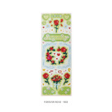 Forever rose red - After The Rain Cyber Love Glitter Sticker Seal
