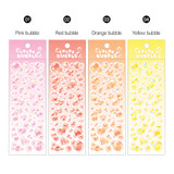 Color - Wanna This Color Bubble Holographic Paper Sticker